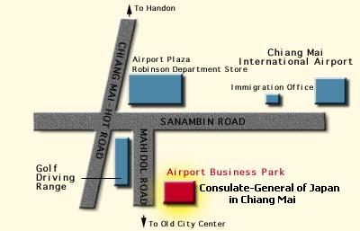 Map of Consulate-General of Japan in Chiang Mai